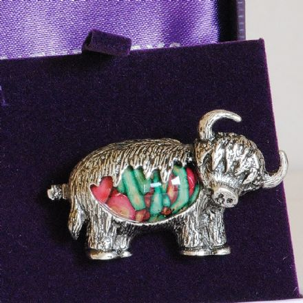 Heathergems Highland Cow Brooch HB76